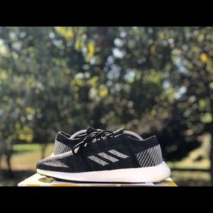 "Adidas Pureboost Go ""Core Black/Carbon"" Size 9.5"